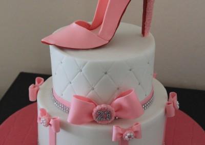 Designer stiletto shoe cake