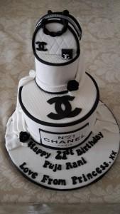 2 tier Chanel birthday cake