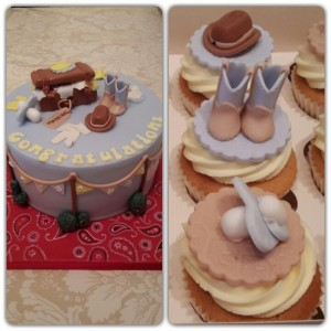 Baby shower western themed.