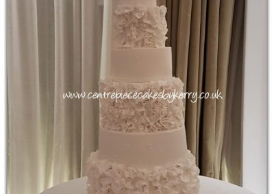 Wedding Cakes North London - 7 tier ruffles cake