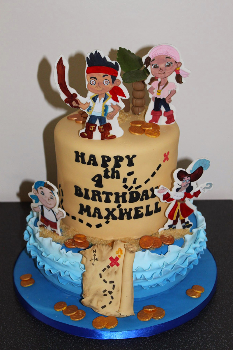 2 tier jake and the Neverland Pirates cake