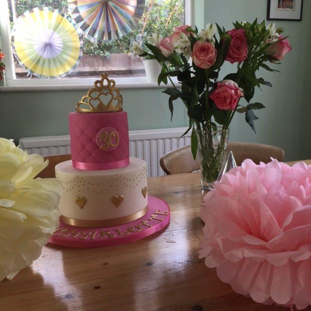 30th bespoke cake vegan sponge