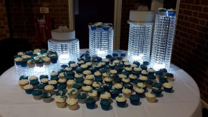 Blue and White Wedding Cupcakes Enfield