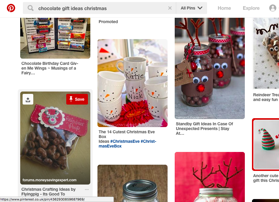 PInterest Chocolate Gift Ideas