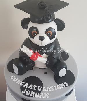 Graduating Panda cake