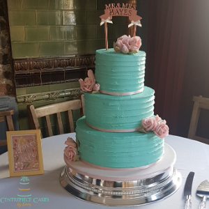 Teal and pink shabby chic
