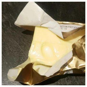 Finger press test for butter
